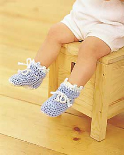 10 Quick and Easy Crochet Baby Booties [Free Crochet ...