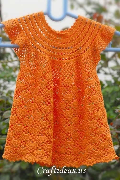 [Free Patterns] Gorgeous Crochet Dresses For Little Girls