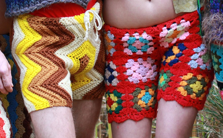 Extra-Funky! The Latest Men's Fashion: Crochet Shorts