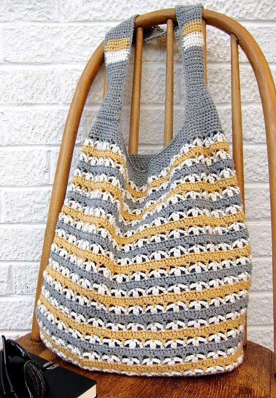 Free Crochet Market Bag Pattern : Free Pattern] Make Your Own Chunky Retro Granny Stash Bag