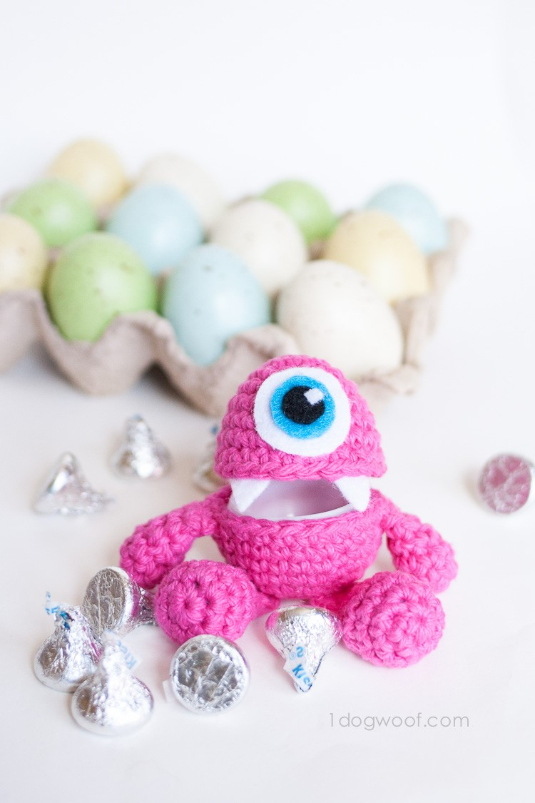 Free Pattern] Make Your Very Own Little Monster Easter Egg Crochet ...