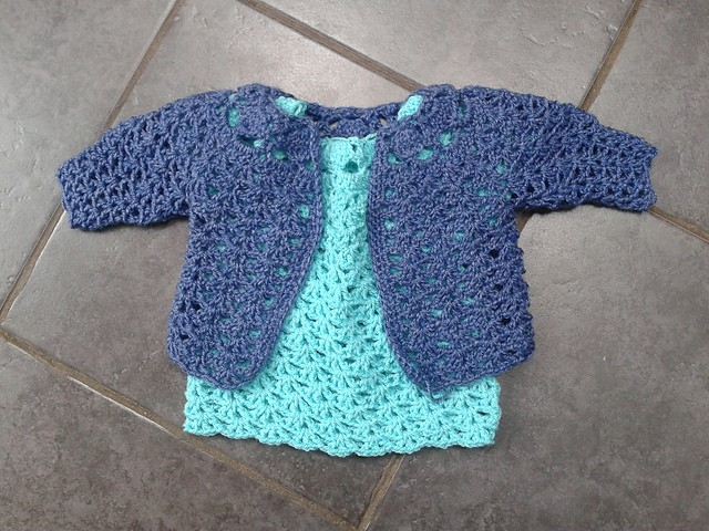 cute dress for little girls from craftideas.us. Adorable crochet dress ...