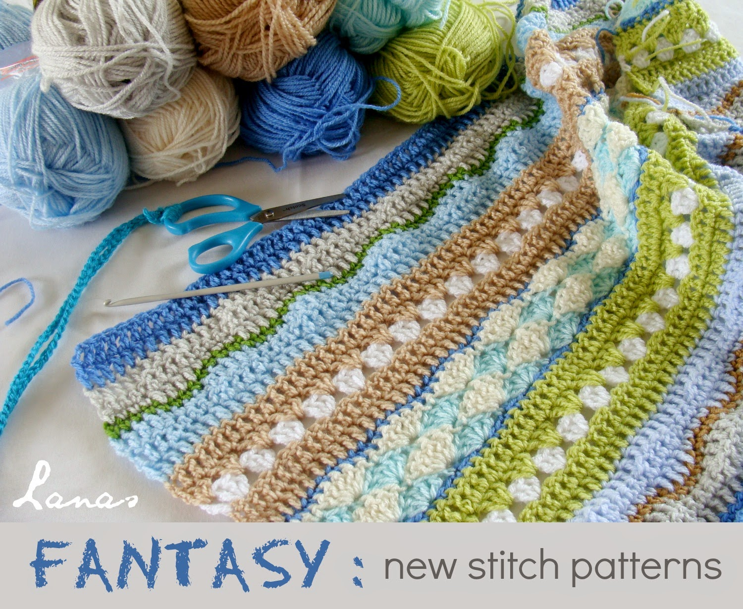 Crochet Fantasy : Free Pattern] Make Your Own Fantasy Blanket - Knit And Crochet Daily
