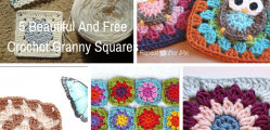 5 Beautiful And Free Crochet Granny Squares