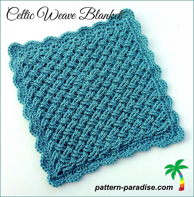 Free Pattern Celtic Weave Blanket Knit And Crochet Daily