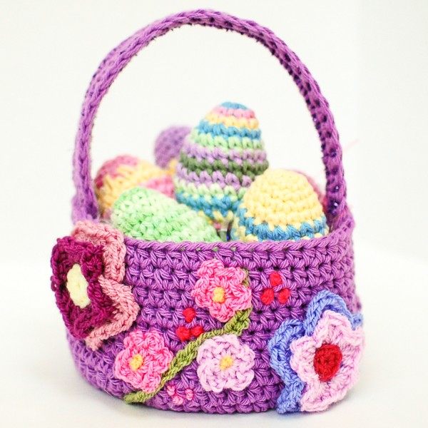 Free Pattern Easter Crochet Spring Easter Basket Knit And