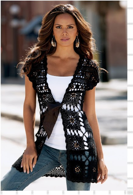 Free Crochet Patterns For Long Vests : [Free Pattern] Beautiful Long Crochet Vest - Knit And ...