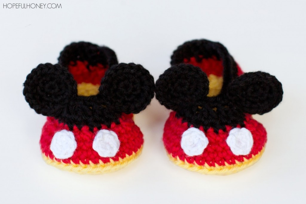 Mickey Mouse Inspired Baby Booties Crochet Pattern 4