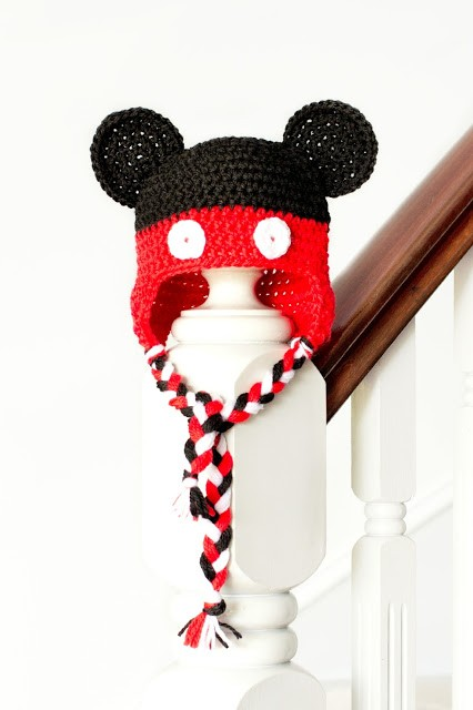 Mickey Mouse Inspired Baby Hat Crochet Pattern 1
