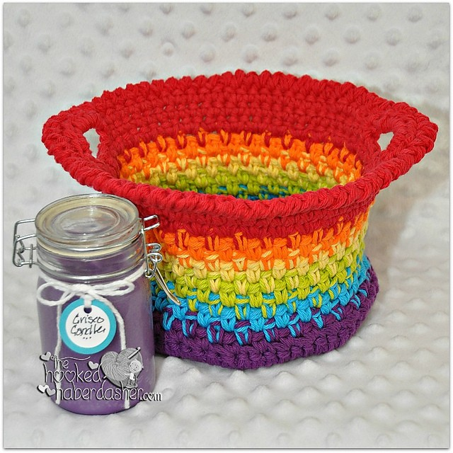 [Free Patterns] 15 Beautiful Crochet Spa Basket Patterns