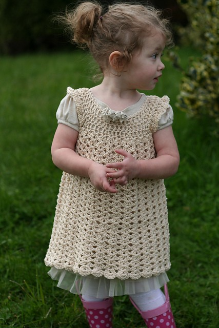 Free Crochet Angel Wing Dress Pattern : [Free Pattern] Beautiful Crochet Baby Dress: Angel Wings ...
