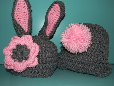 [Free Pattern] Crochet Baby Bunny Hat And Diaper Cover ...