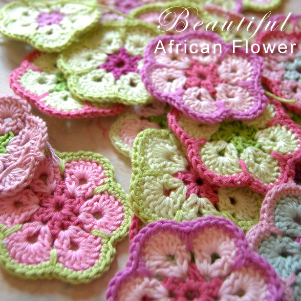 Free Pattern Crochet : Free Pattern] Beautiful African Flower Crochet