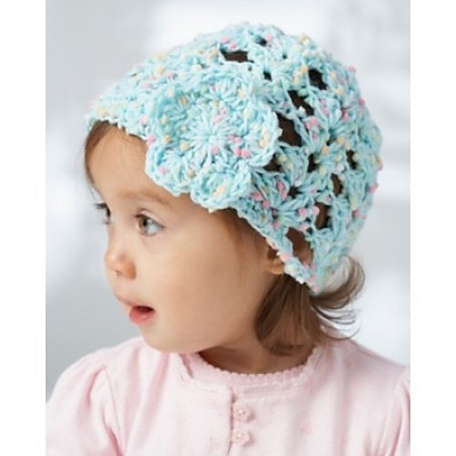 Free Crochet Baby Lacy Hat Pattern : [Free Pattern] Charming Lacy Shells Baby Hat
