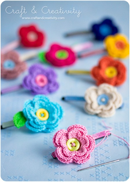 Free Patterns 6 Awesome Crochet Flower Hair Accessories Knit And