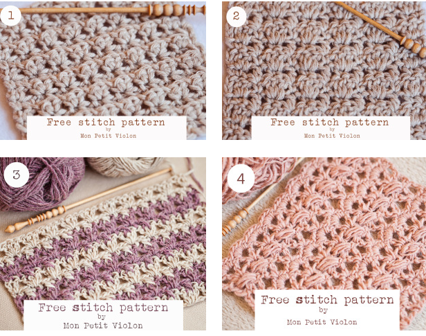 Written Tutorials 4 Beautiful And Free Crochet Stitch Patterns