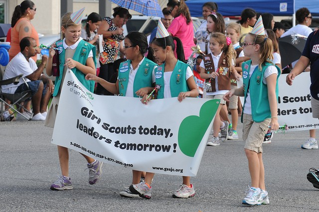 girls scout parade