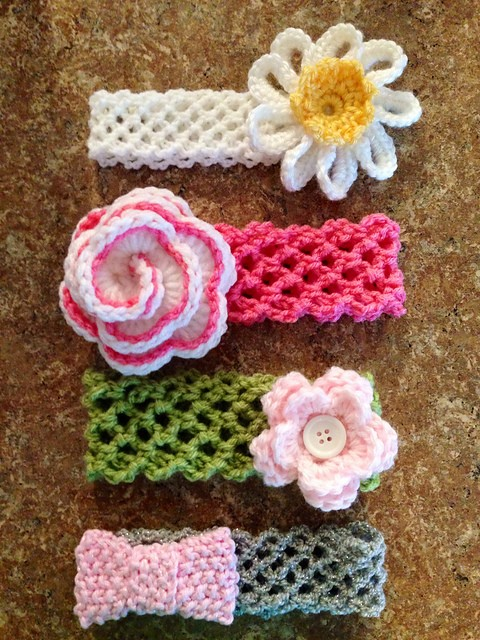 Free Patterns To Crochet Baby Headbands : [Free Pattern] Crochet Headband With Flower