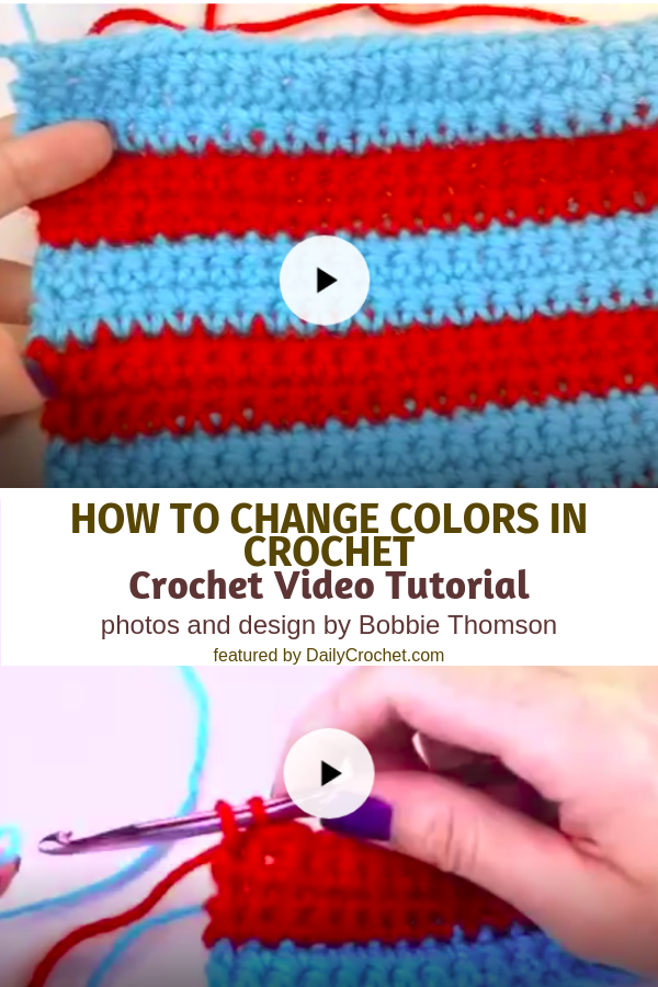 How To Change Colors In Crochet- Crochet Changing Colors At The Beginning Or End Of A Row