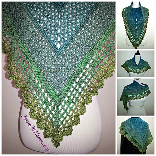 Free Pattern] Gorgeous Crochet Spring-Friendly Shawl - Knit And ...