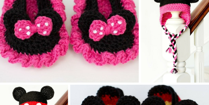 eb52e6e5f99c8 Free Pattern] Mickey Mouse Inspired Newborn Crochet Booties