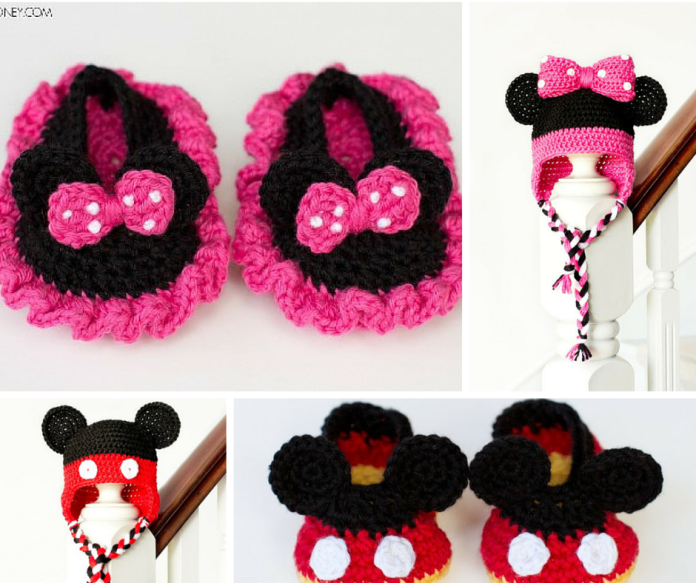 Free Crochet Patterns For Baby Mickey Mouse : [Free Pattern] Mickey Mouse Inspired Newborn Crochet Booties