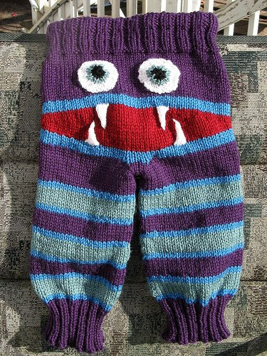 [Free Pattern] Knitted Monster Pants With Mouth And Teeth - Knit And Crochet ...