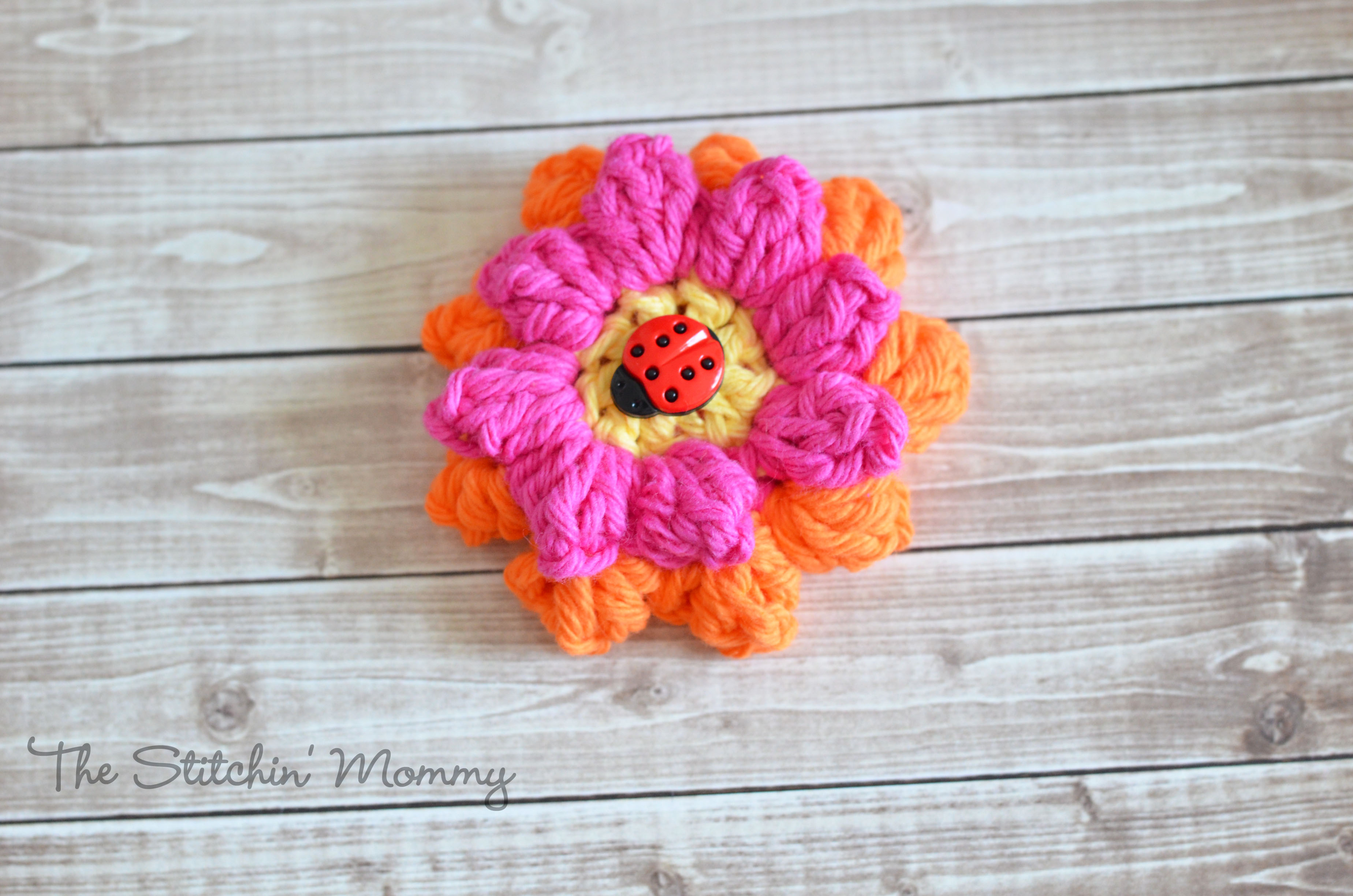 Free Pattern] Learn How To Make A Cute Crochet Popcorn Flower With A ...