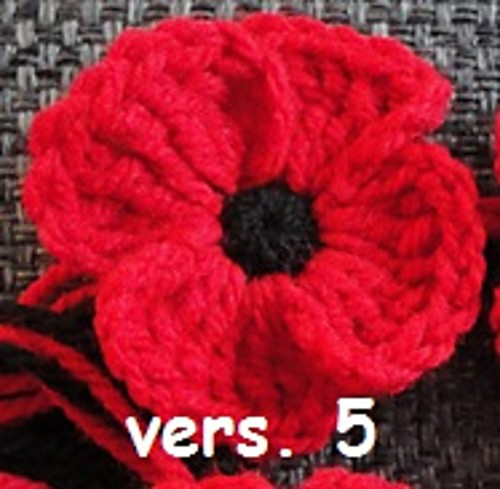 Free Pattern Crocheted Poppies 5 Different Versions