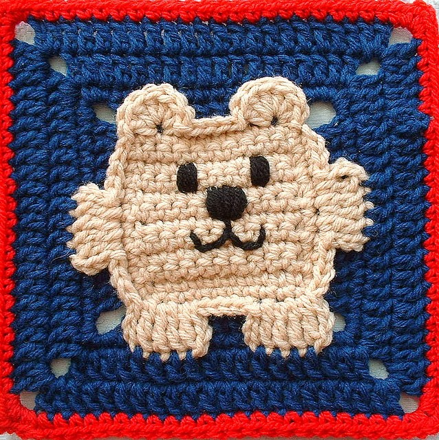 Daily Crochet Com : Free Pattern] Adorable Square Bear Square - Knit And Crochet Daily
