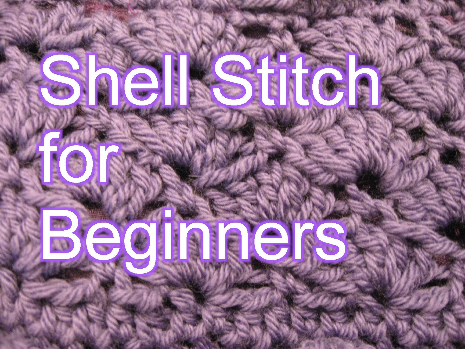 Crochet Websites For Beginners : ... Stitch: Crochet Shell Stitch For Beginners - Knit And Crochet Daily
