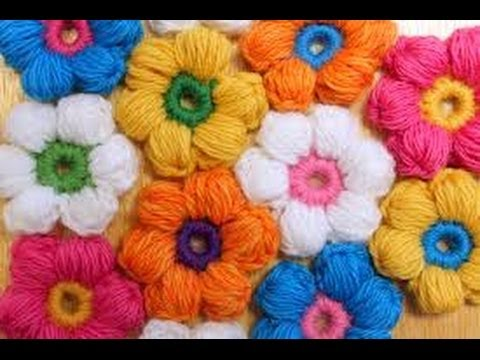 Video Tutorial How To Crochet A Puff Stitch Flower Knit And