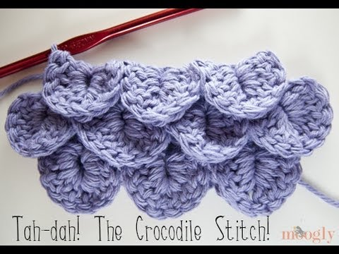 Crochet Stitches Video Tutorials : Video+Photo Tutorial] Learn A New Crochet Stitch: Crocodile Stitch