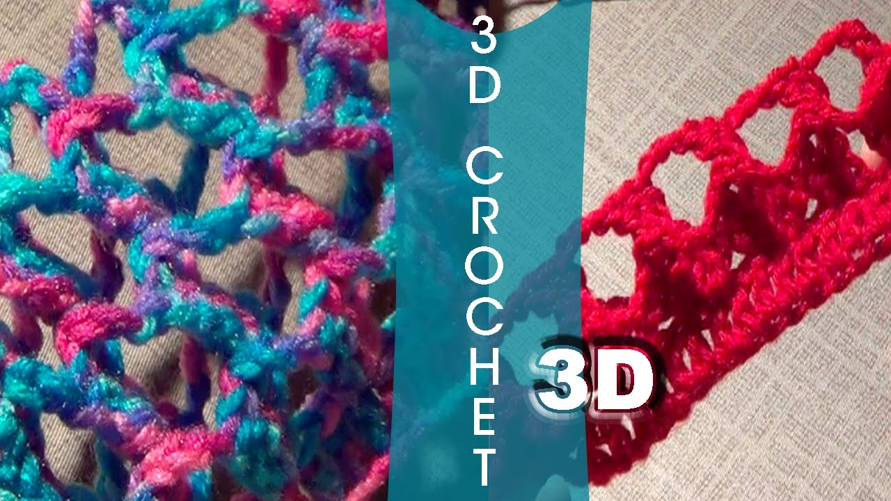 Crochet Stitches Video Tutorials : ... +Video Tutorial] Learn a New Crochet Stitch: The 3D Crochet Stitch