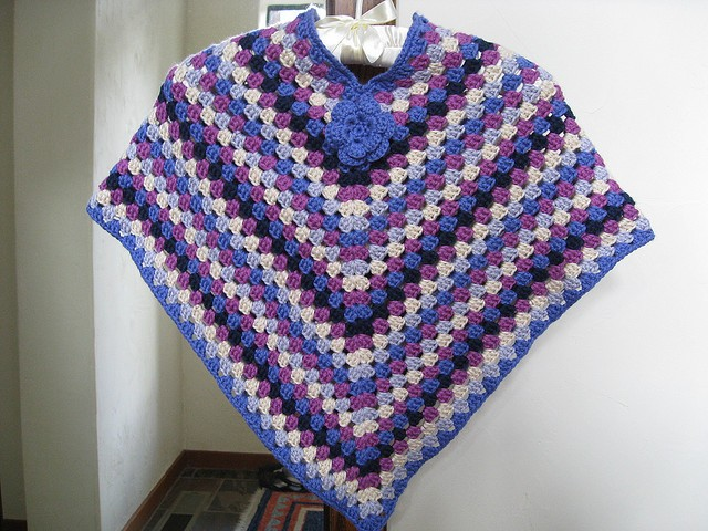 Gallery For > Crochet Poncho Patterns For Beginners