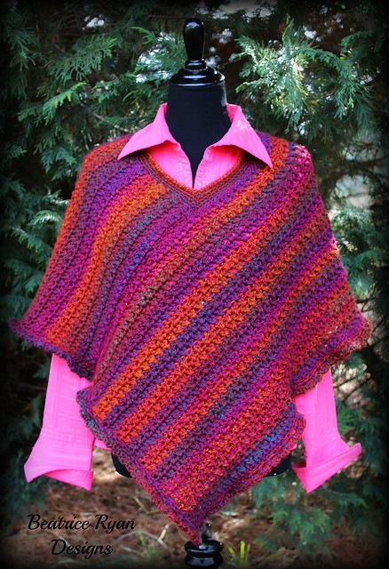 10 Easy Free Crochet Poncho Patterns For Beginners- Effortless Chic Poncho