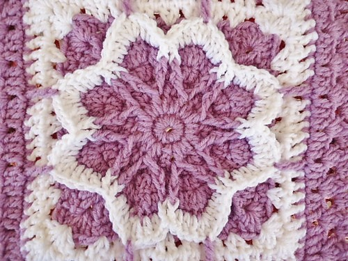 Free Crochet Pattern Websites : Free Pattern] Fun Square With Lots Of Color Potential: Flower Blossom ...
