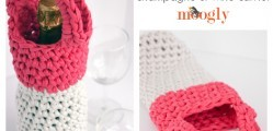 [Free Pattern] This Is One Of The Cutest Presents You Could Give Someone: Crochet Wine Bottle Totes