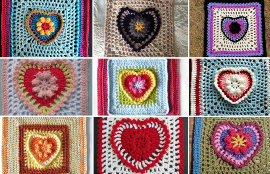 Grandma's Heart Square all