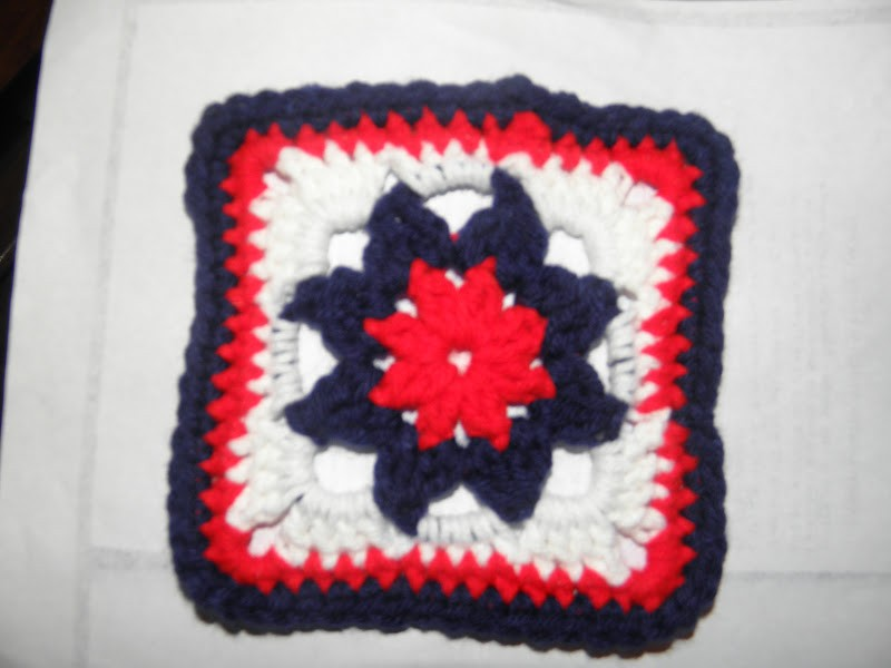 Never Fading Flower square tutorial