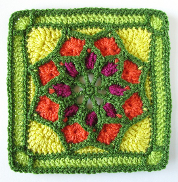 Free Pattern] Afghan Square Pattern: Sun Catcher
