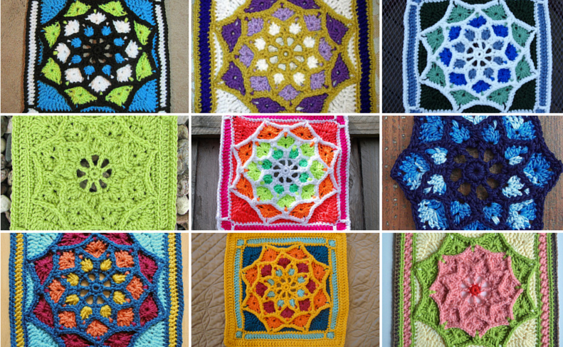 Free Pattern Afghan Square Pattern Sun Catcher