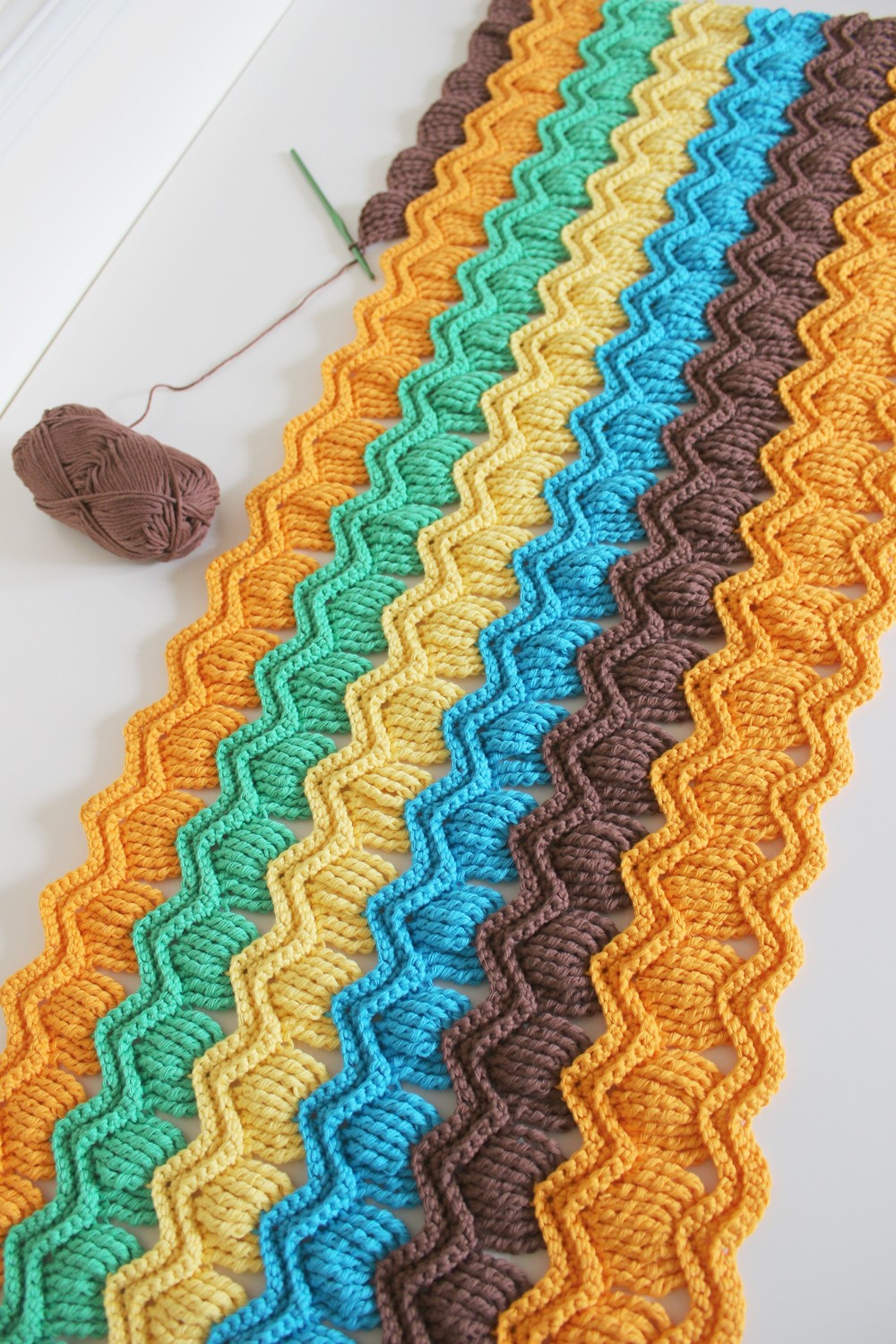 Free Crochet Stitches : Free Pattern] Crochet Vintage Fan Ripple Stitch