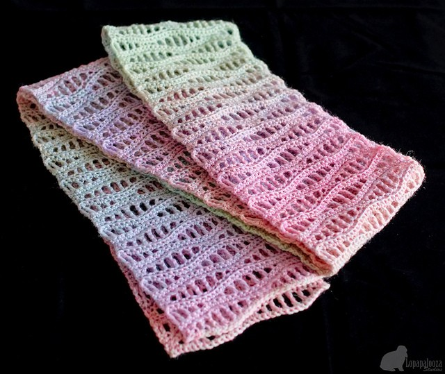 crochet scarf waves pattern 1