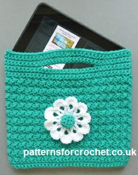 Free Crochet Patterns For Small Bags : [Free Pattern] Crochet Tablet Bag Pattern