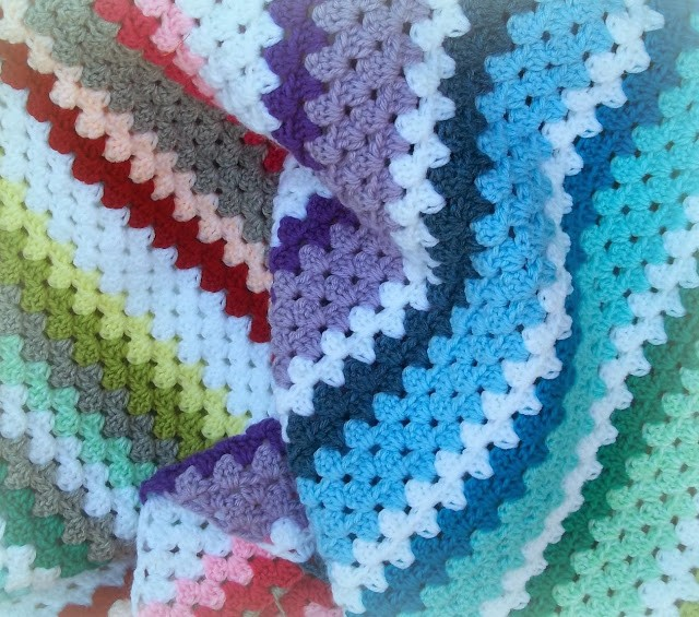 Free Pattern I Never Saw Granny Stripes Diagonal Before