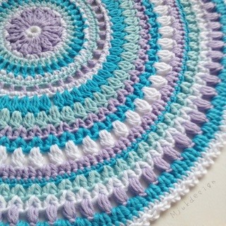 how to change square to round crochet