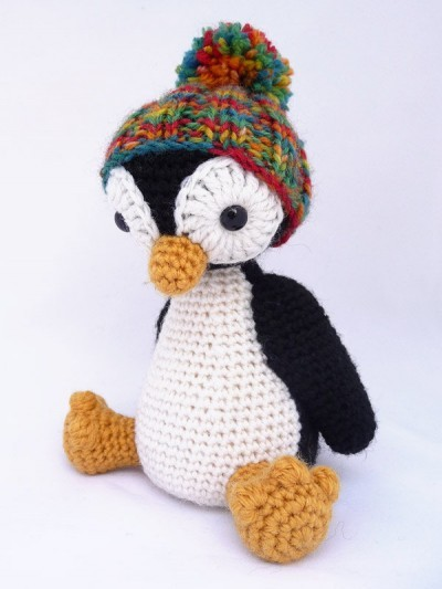 Free Pattern This Little Penguin With Pom Pom Hat Is