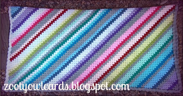 [Free Pattern] I Never Saw Granny Stripes Diagonal Before. They Are Amazing