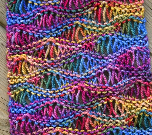 Knitted Scarf Patterns With Variegated Yarn : [Free Pattern] This Drop Stitch Scarf Looks Great In Variegated Yarn - Knit A...